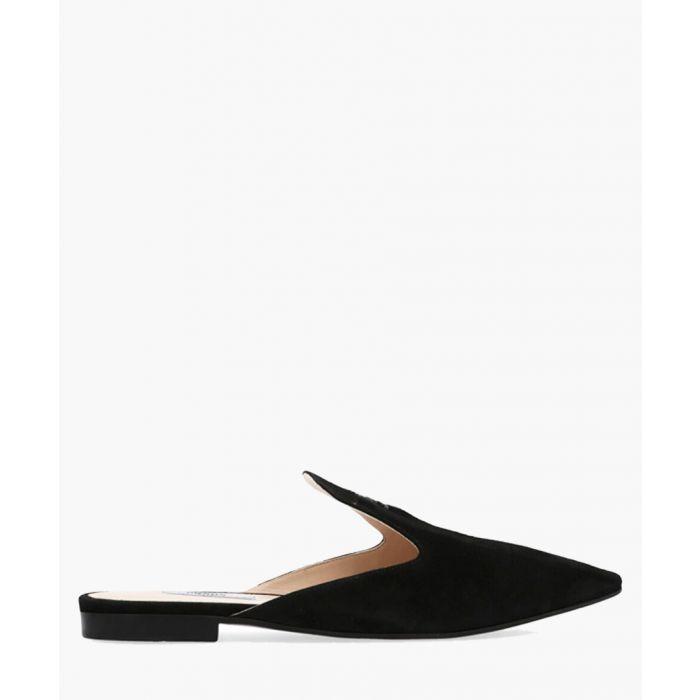 Image for Black leather slip-ons