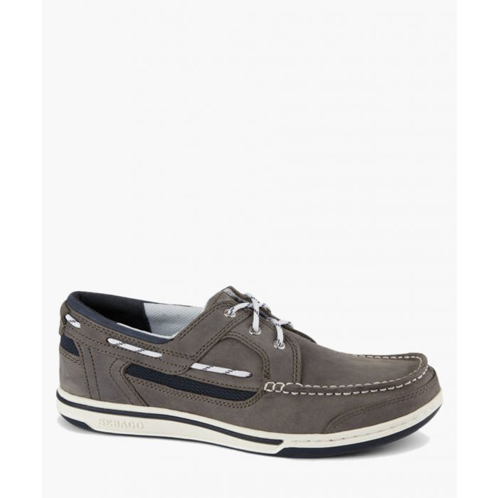 Image for Dark grey suede boat shoes