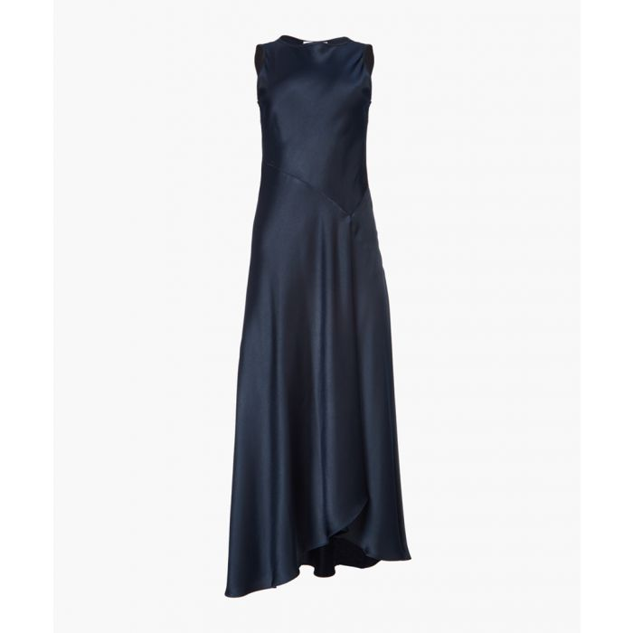 Image for Midnight satin bias-cut midi dress