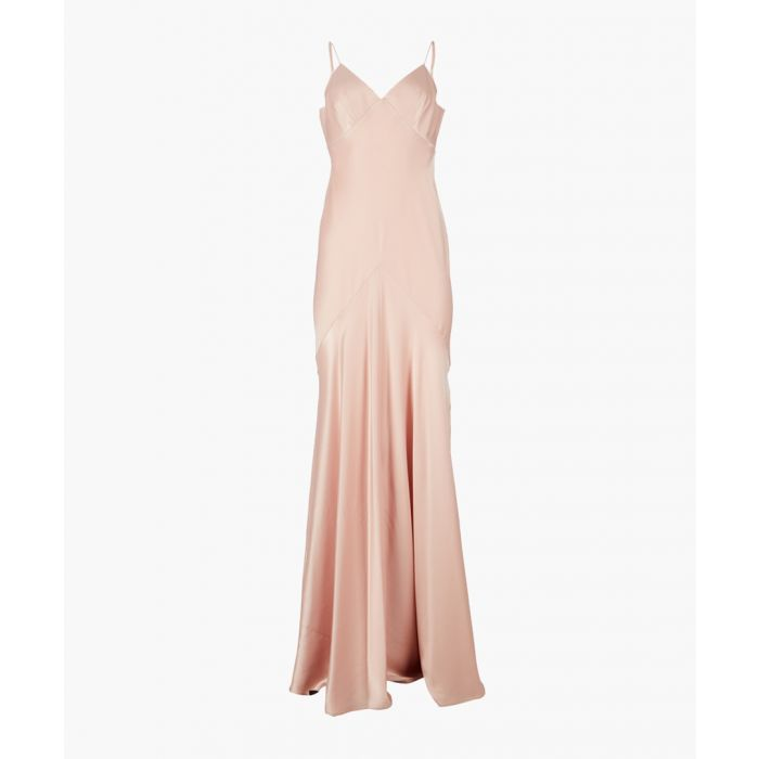 Image for Blush satin slip dress