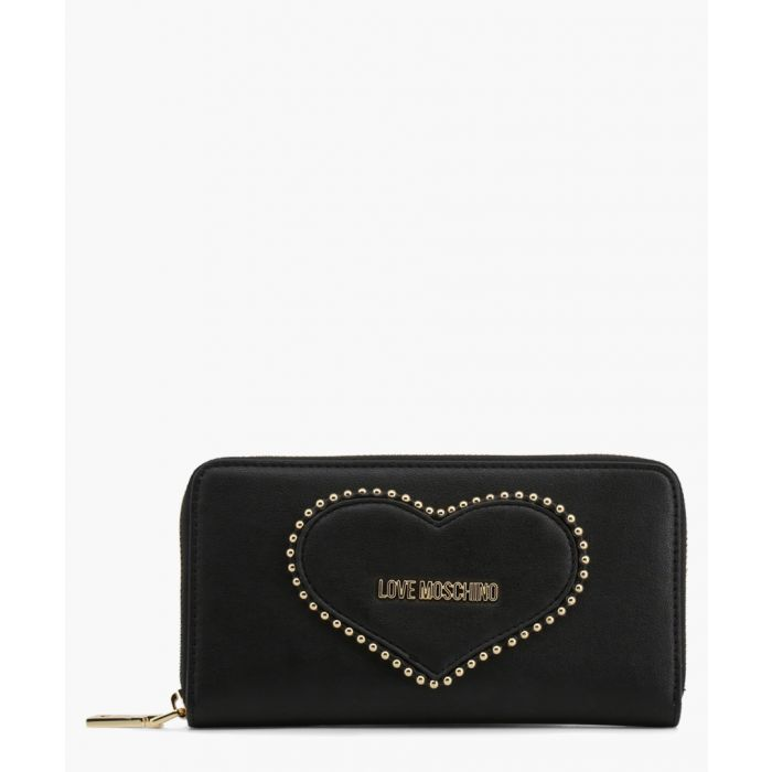 Image for Black faux-leather bag