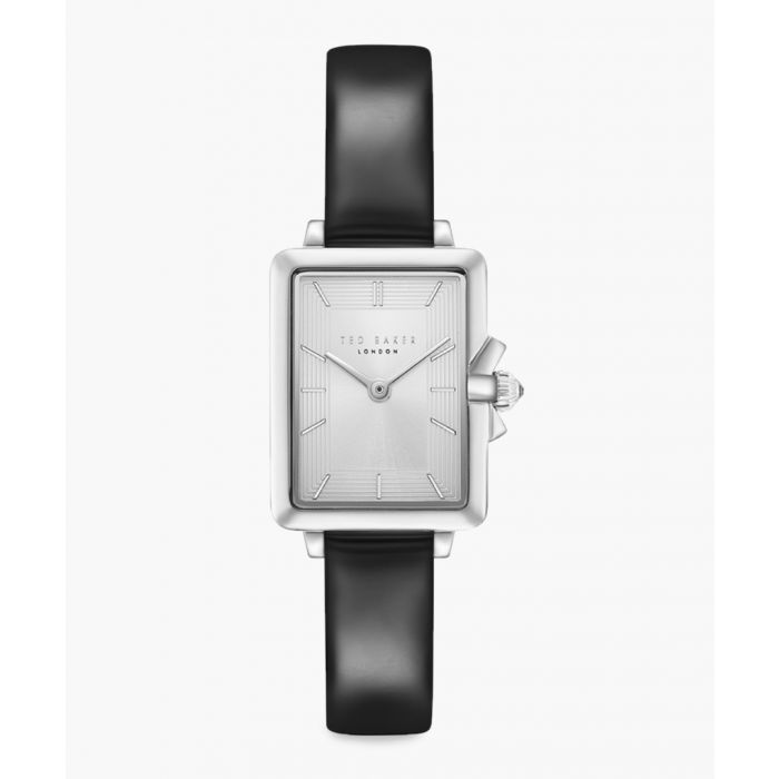 Image for Tess black leather and stainless steel watch