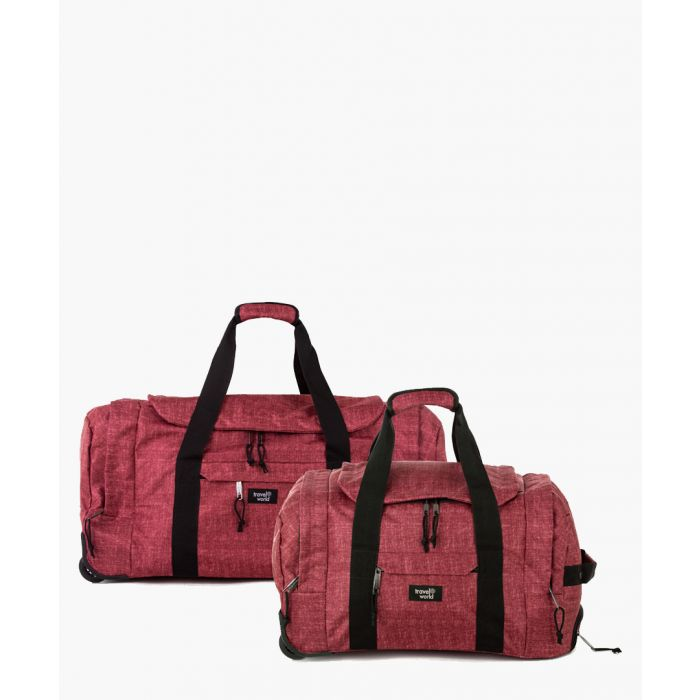 Image for 2pc red luggage set