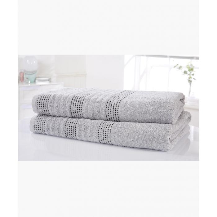 Image for 2pc Silver cotton bath sheet set
