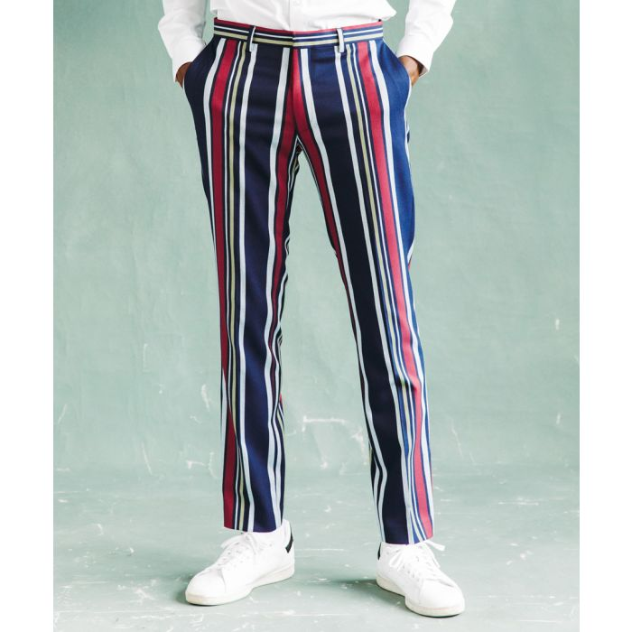 Image for Bold Striped skinny suit trousers