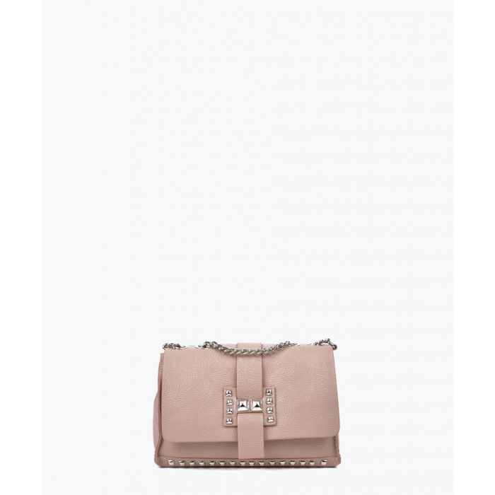Image for Pink leather shoulder bag