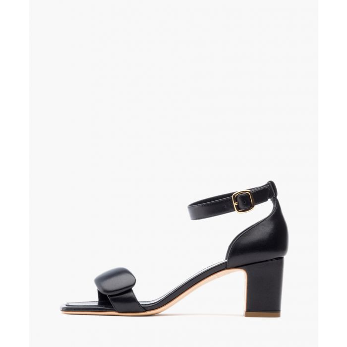Image for Melissa black nappa leather block heel sandals