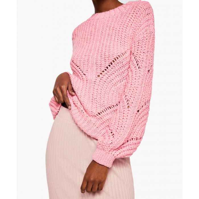 Image for Pink cable knit skirt