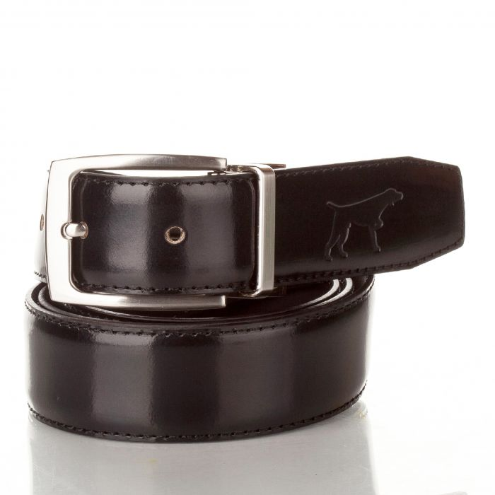 Image for Mens black leather adjustable belt