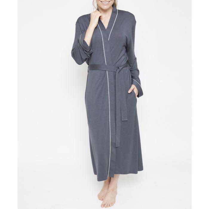 Image for Aspen grey long sleeve robe