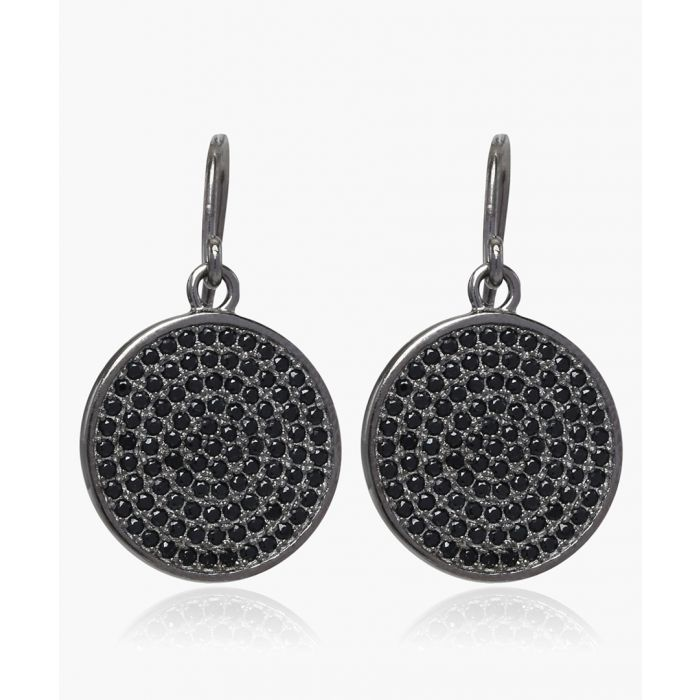 Image for Este black rhodium round earrings