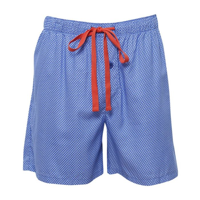 Image for Oscar blue cotton blend pyjama shorts