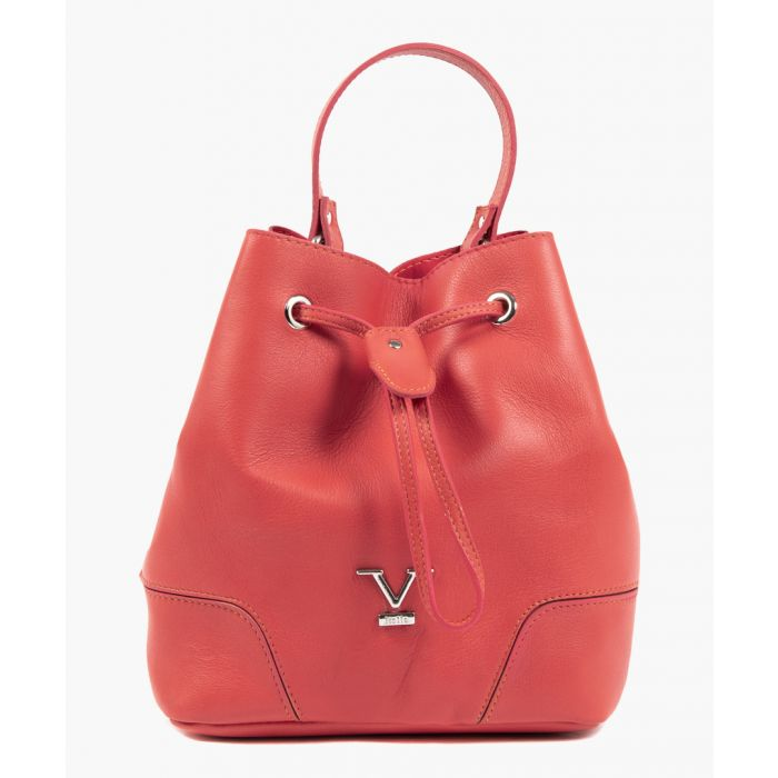 Image for Coral leather bucket bag