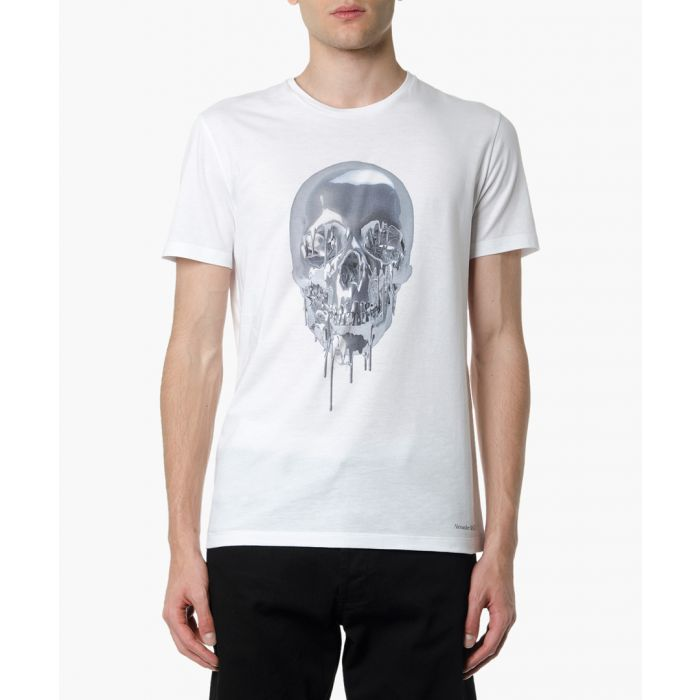 Image for White cotton skull T-shirt
