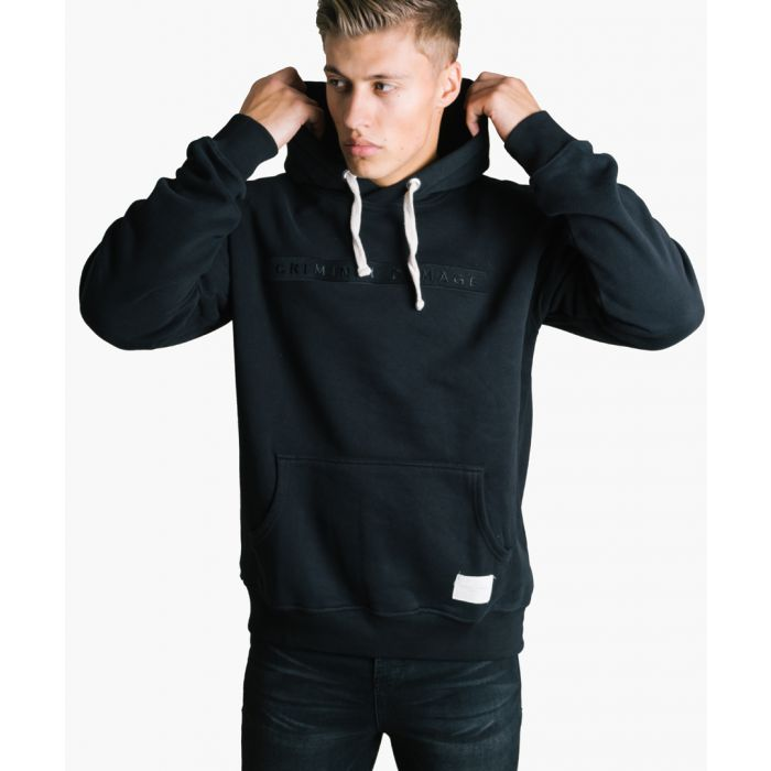 Image for Black cotton blend hoodie