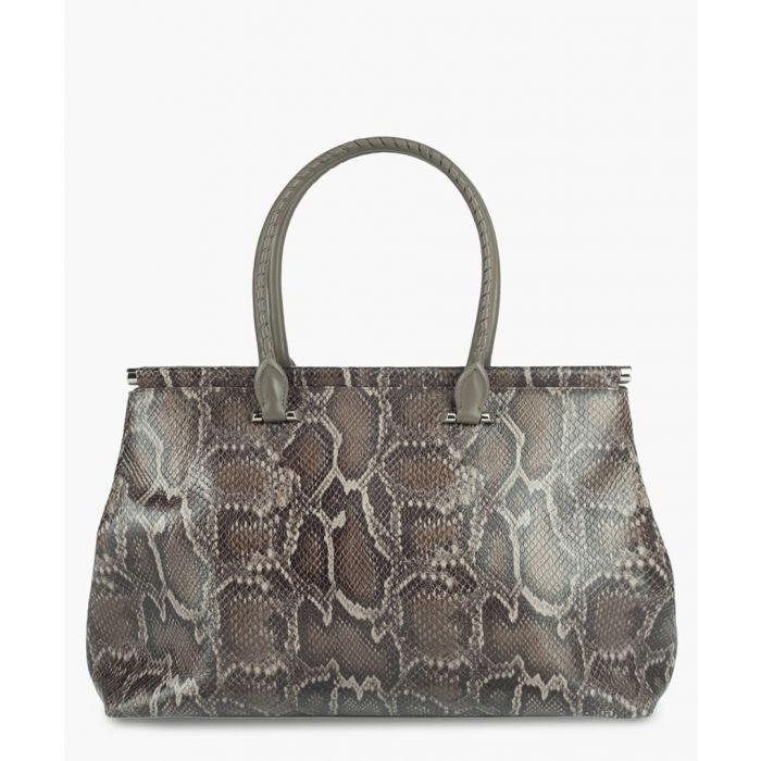 Image for Brando taupe leather shoulder bag