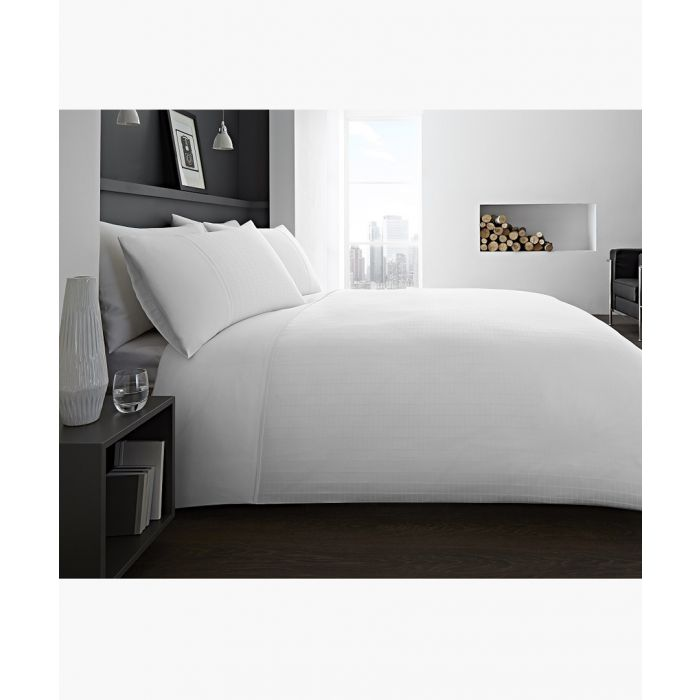 Image for Ontario white single duvet set