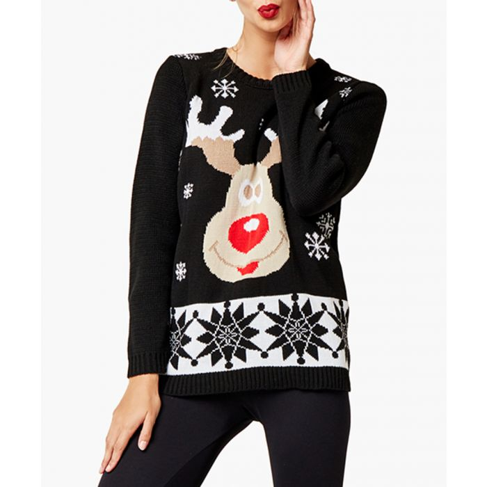 Image for Black loose cut jumper