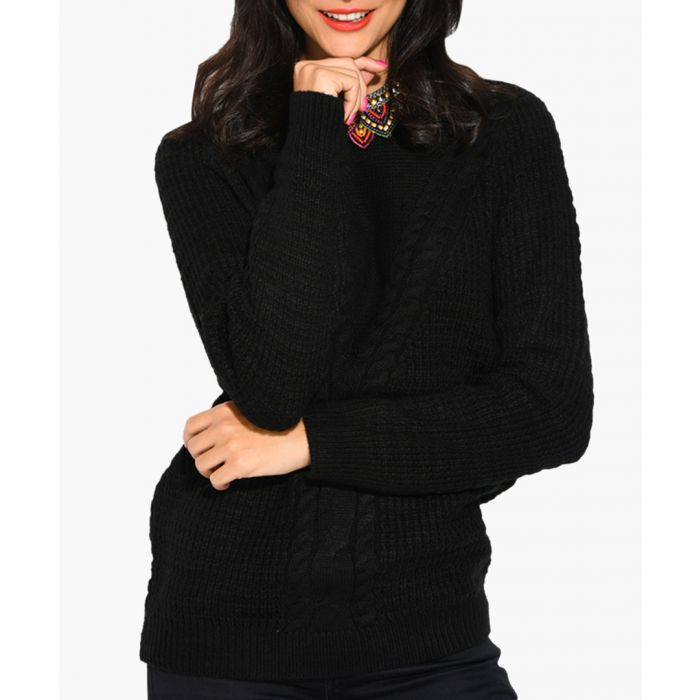 Image for Black cashmere and mohair blend jumper