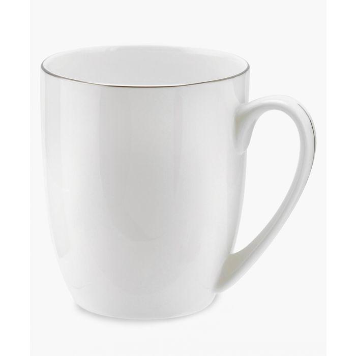 Image for 4pc Serendipity platinum band bone china barrel shape mugs