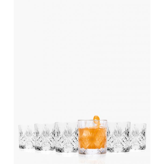Image for 6pc Melodia Crystal Short whisky water tumblers glasses 230ml