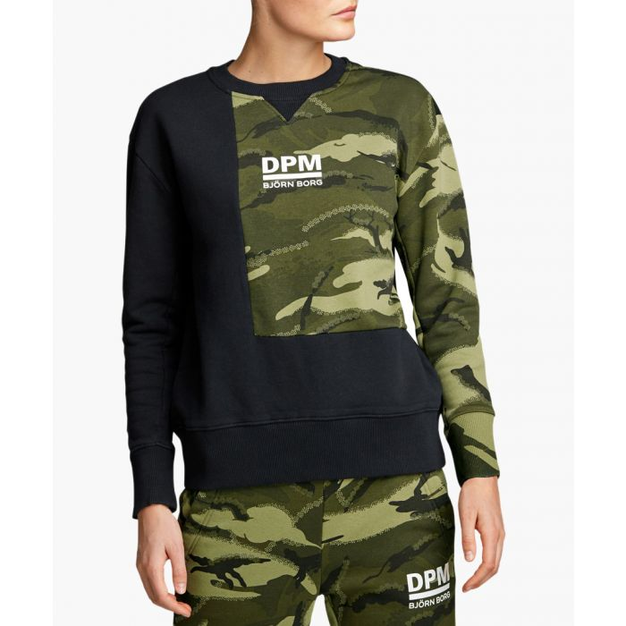 Image for Multi-coloured camouflage crew top