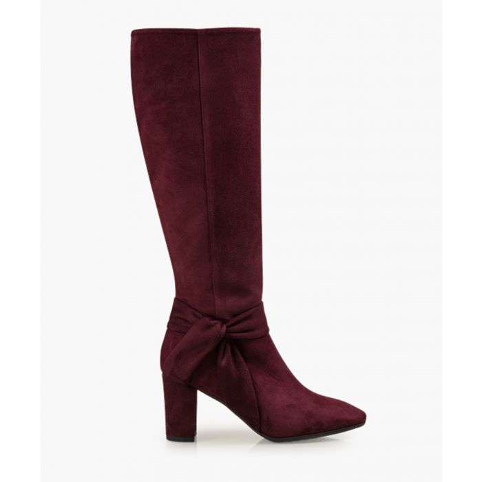 Image for Florence burgundy suede knee-high boots
