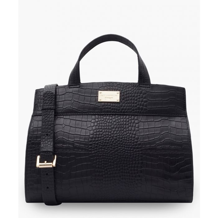 Image for Tauter black leather shopper