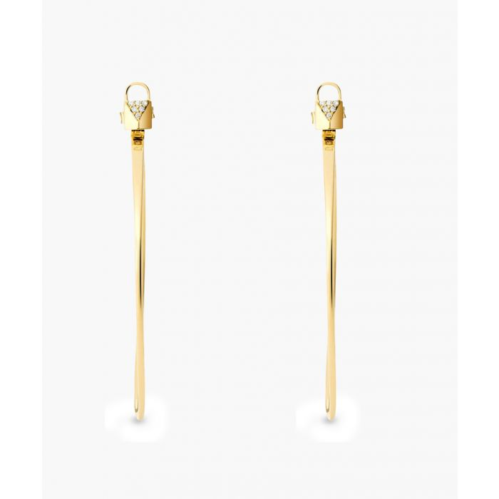 Image for Gold-plated drop earrings