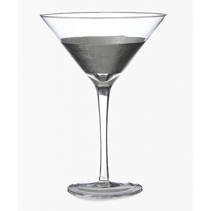 Image for 2pc Apollo silver-tone crosshatched cocktail glasses