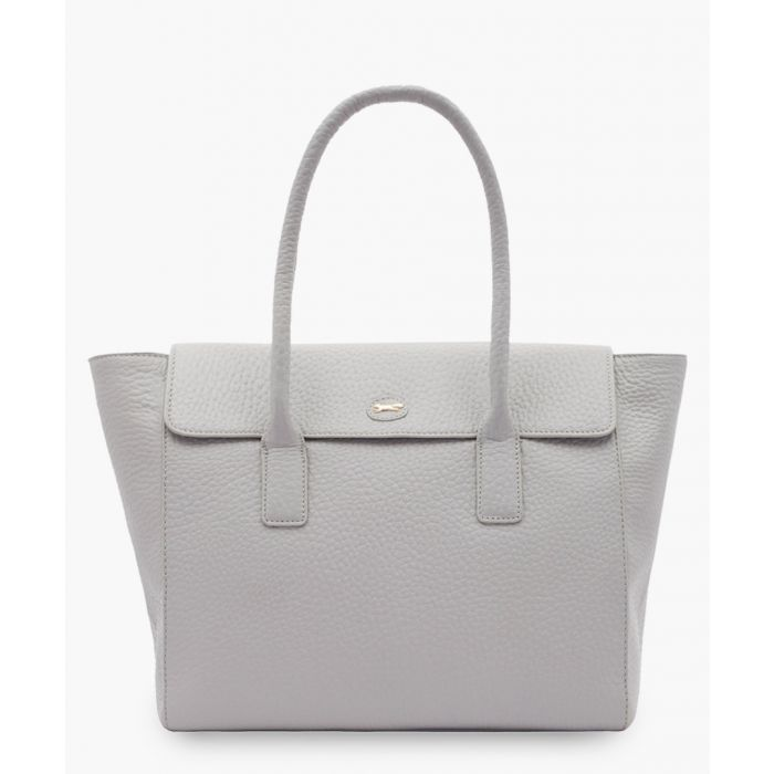 Image for Universe white leather shopper