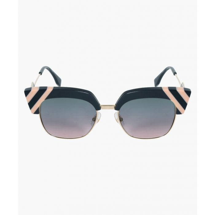 Image for Fendi SUNGLASSES Grey Front with Gold Arms / Graduated Green and Pink