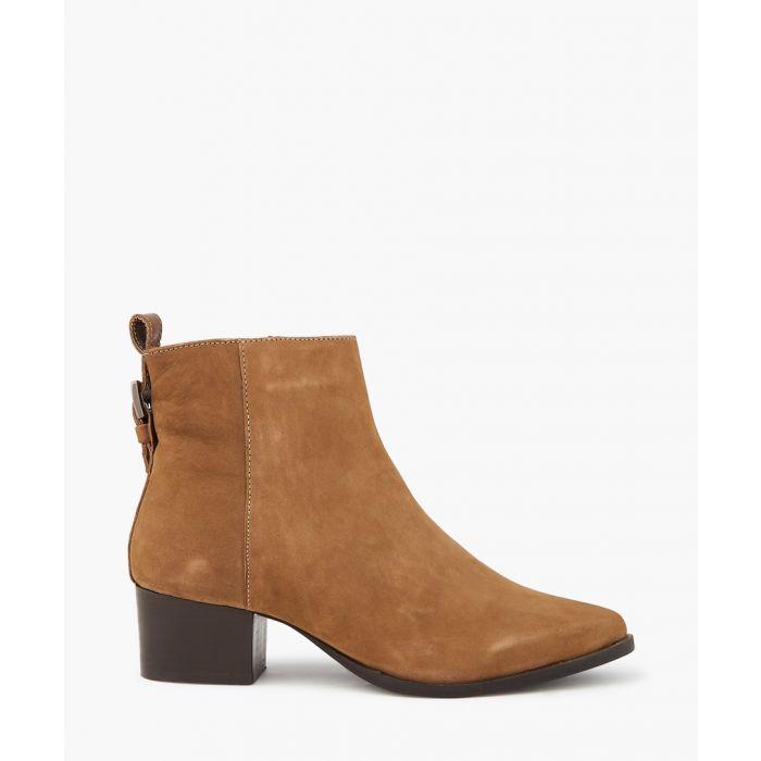 Image for Taupe block heel ankle boots