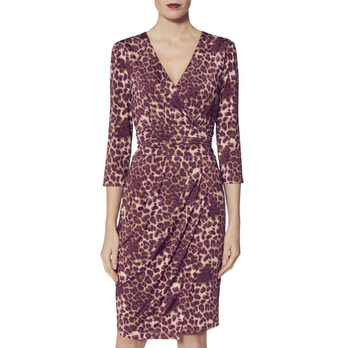Image for Nikoleta magenta print jersey dress
