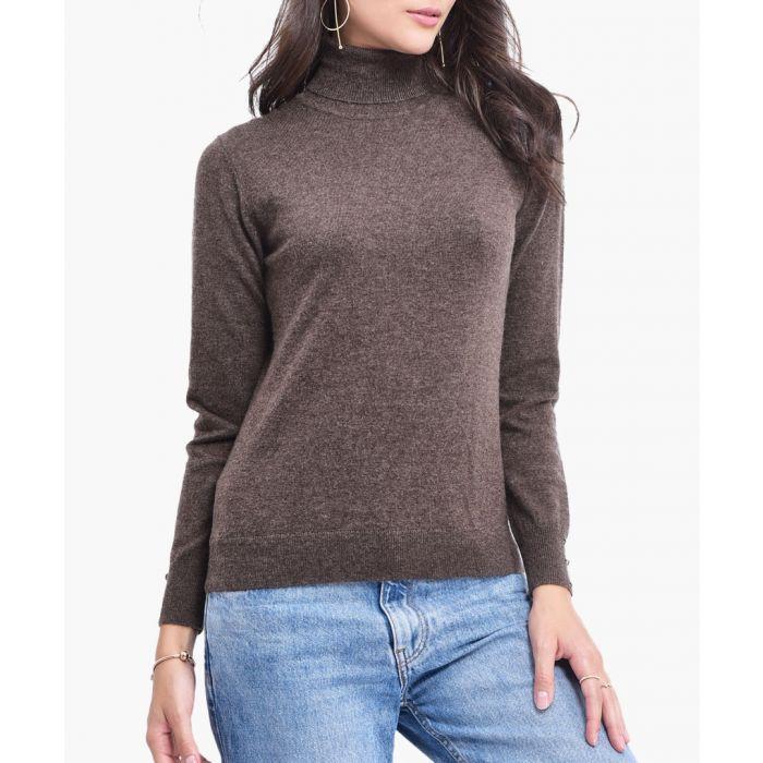 Image for Brown cashmere blend jumper