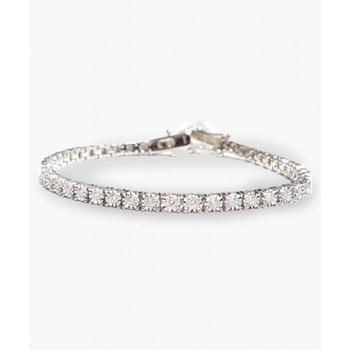 Image for 9k white gold and 1.00ct diamond bracelet