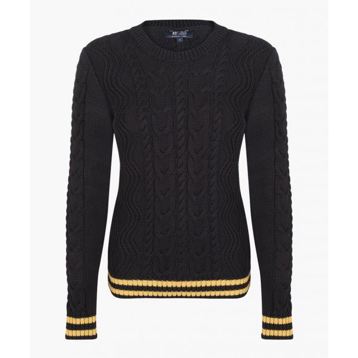 Image for Black cotton blend jumper