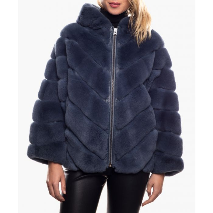 Image for Style blue fur jacket