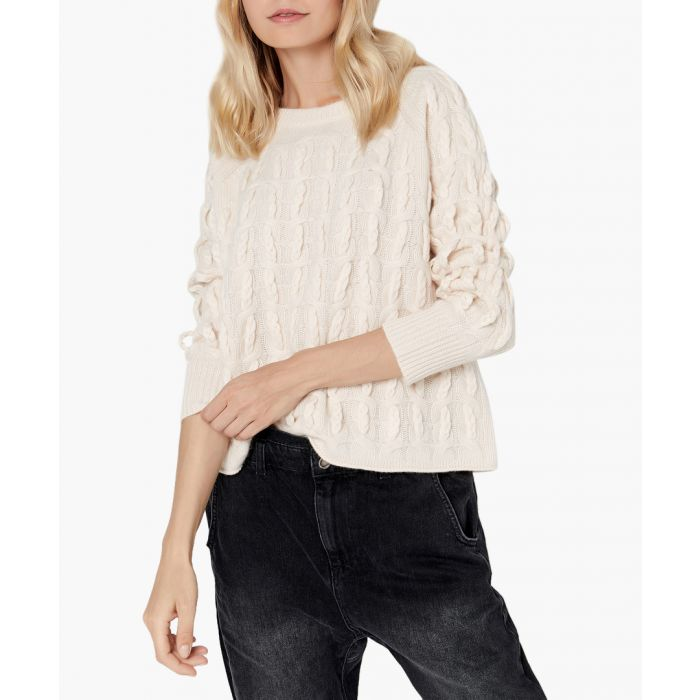 Image for Cream pure cashmere jumper