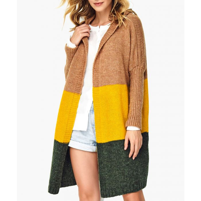 Image for Camel and khaki wool blend jumper