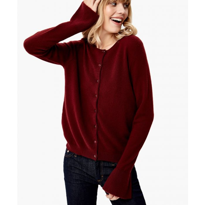 Image for Wine pure cashmere cardigan