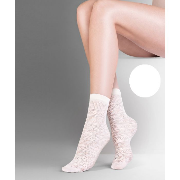 Image for Sol white ankle socks 20 denier