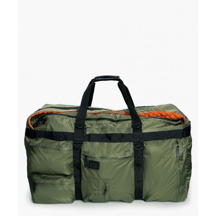 Image for Green leather trim stowaway weekender