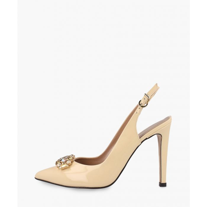 Image for Beige leather heels