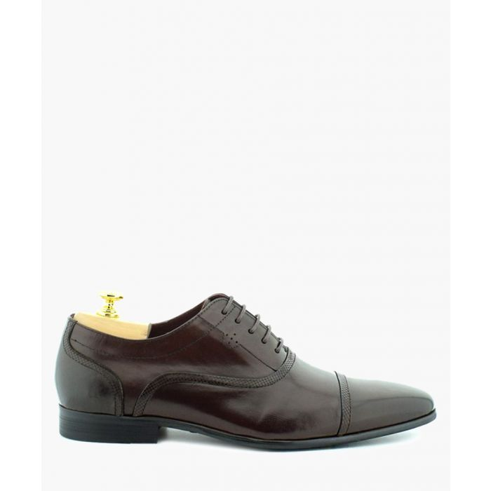 Image for Corbett wine leather Oxford shoes