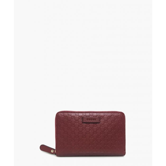 Image for Guccissima wine leather zip-up wallet