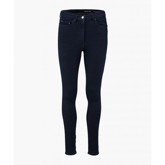 Image for Indigo wash sacral high waisted skinny jeans