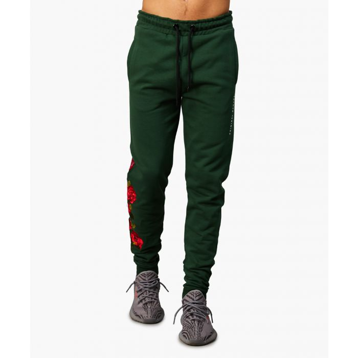 Image for Olive cotton joggers