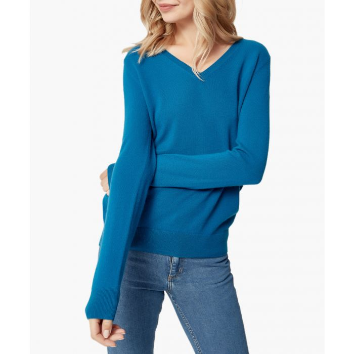 Image for Green pure cashmere jumper