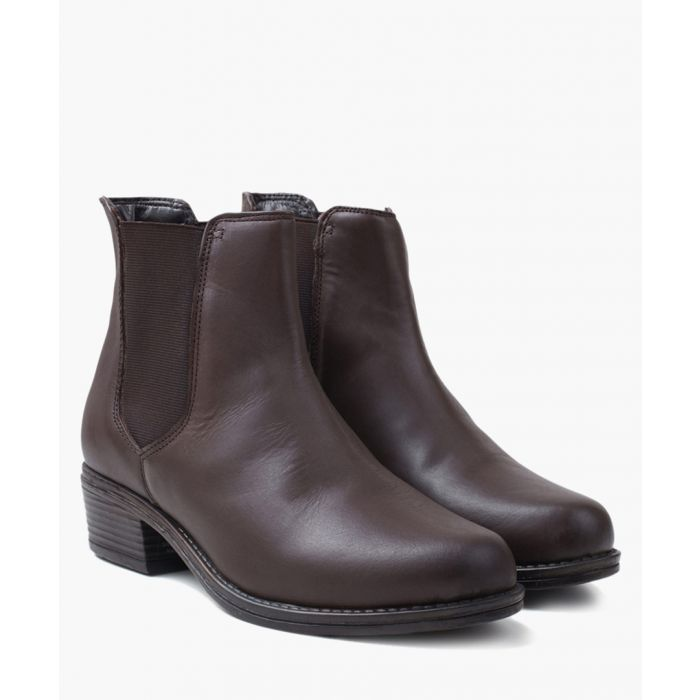Image for Brown leather Chelsea boots